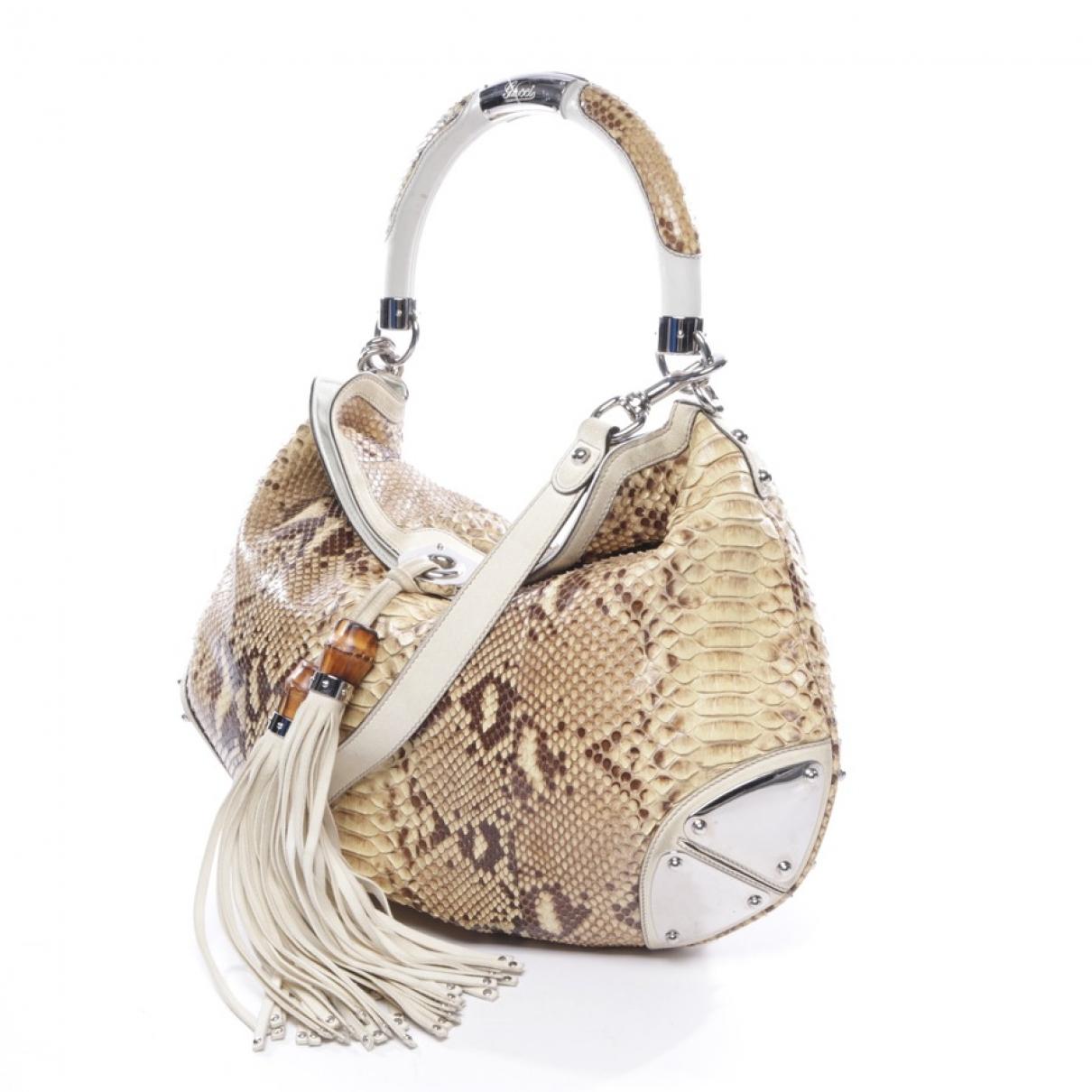 Gucci \N Handtasche in  Beige Exotenleder