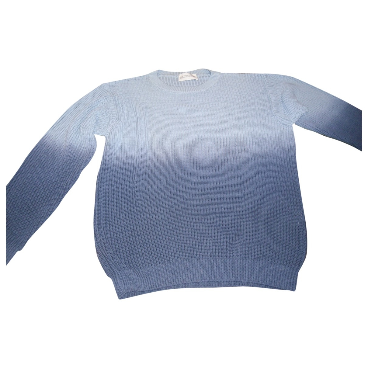 Non Signé / Unsigned \N Blue Cotton Knitwear & Sweatshirts for Men 52 IT