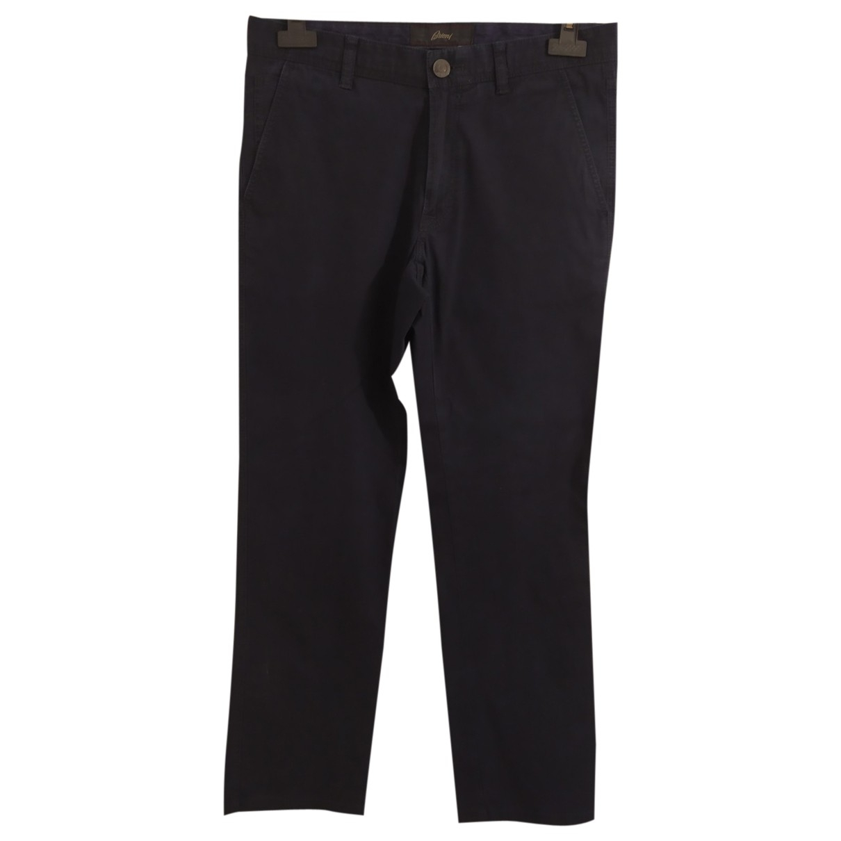 Brioni \N Navy Cotton Trousers for Men 34 UK - US