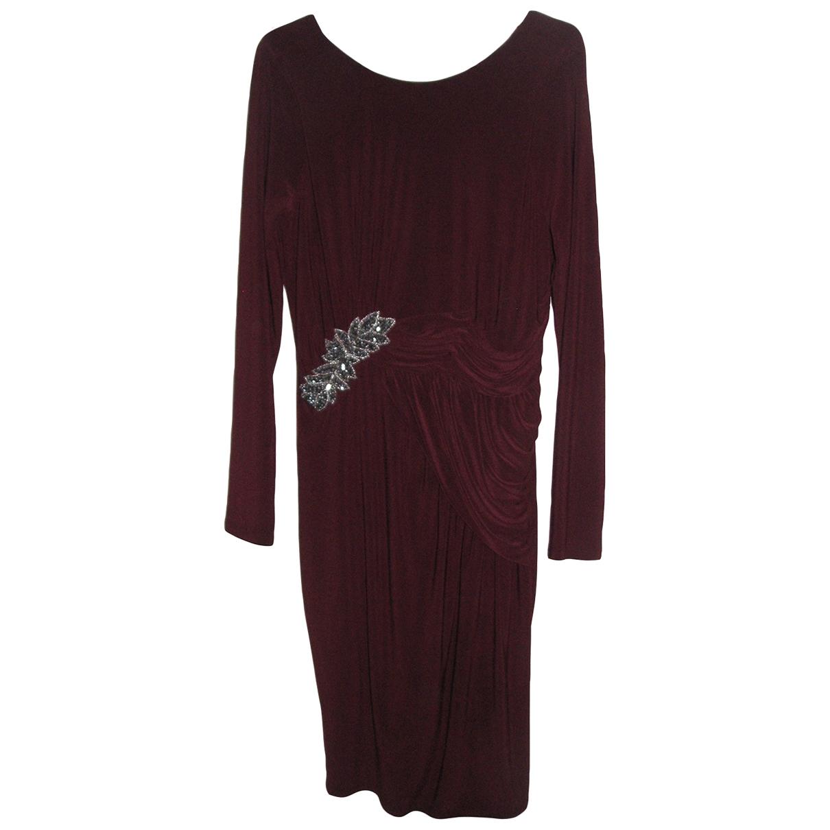 Jenny Packham \N Burgundy dress for Women 12 UK