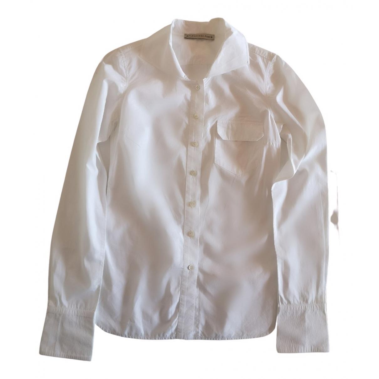 Balenciaga \N Top in  Weiss Baumwolle