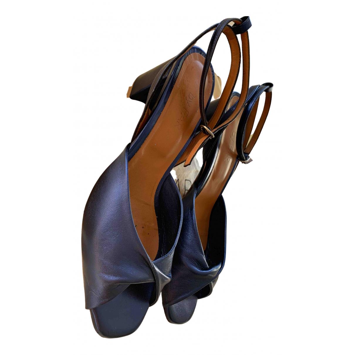 By Far - Sandales   pour femme en cuir - bleu