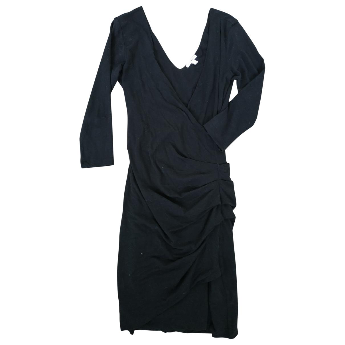 James Perse \N Kleid in  Schwarz Viskose