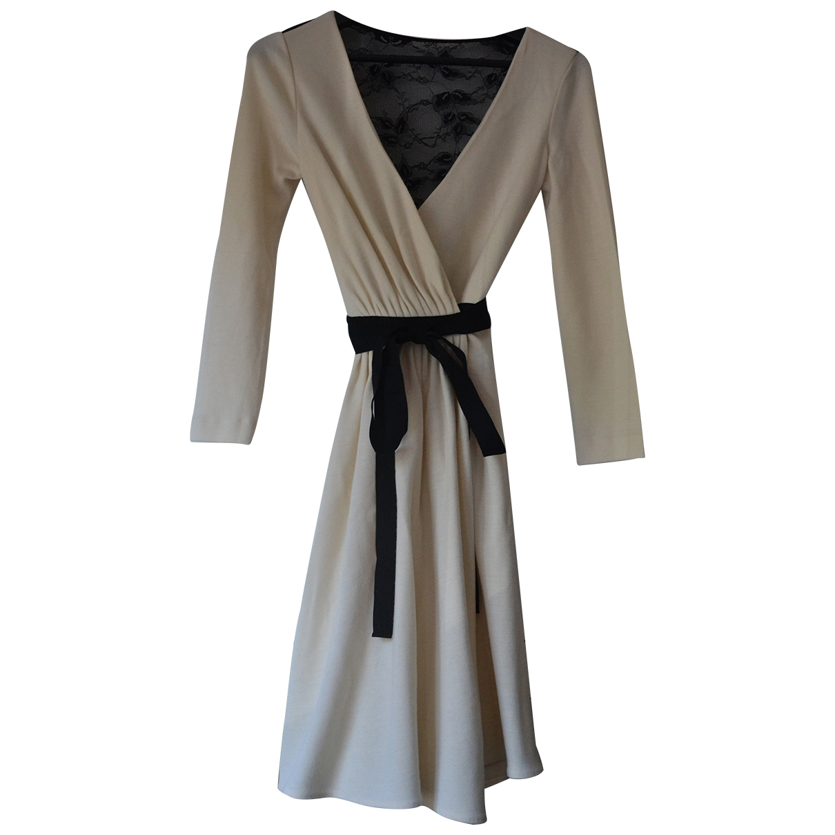 Diane Von Furstenberg \N Ecru Wool dress for Women 2 US