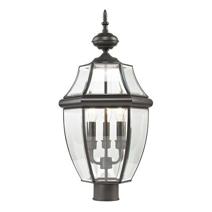 8603Ep/75 Ashford 3 Light Outdoor Post Lamp In Oil Rubbed