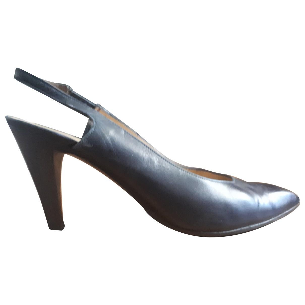Charles Jourdan \N Black Leather Heels for Women 39 EU