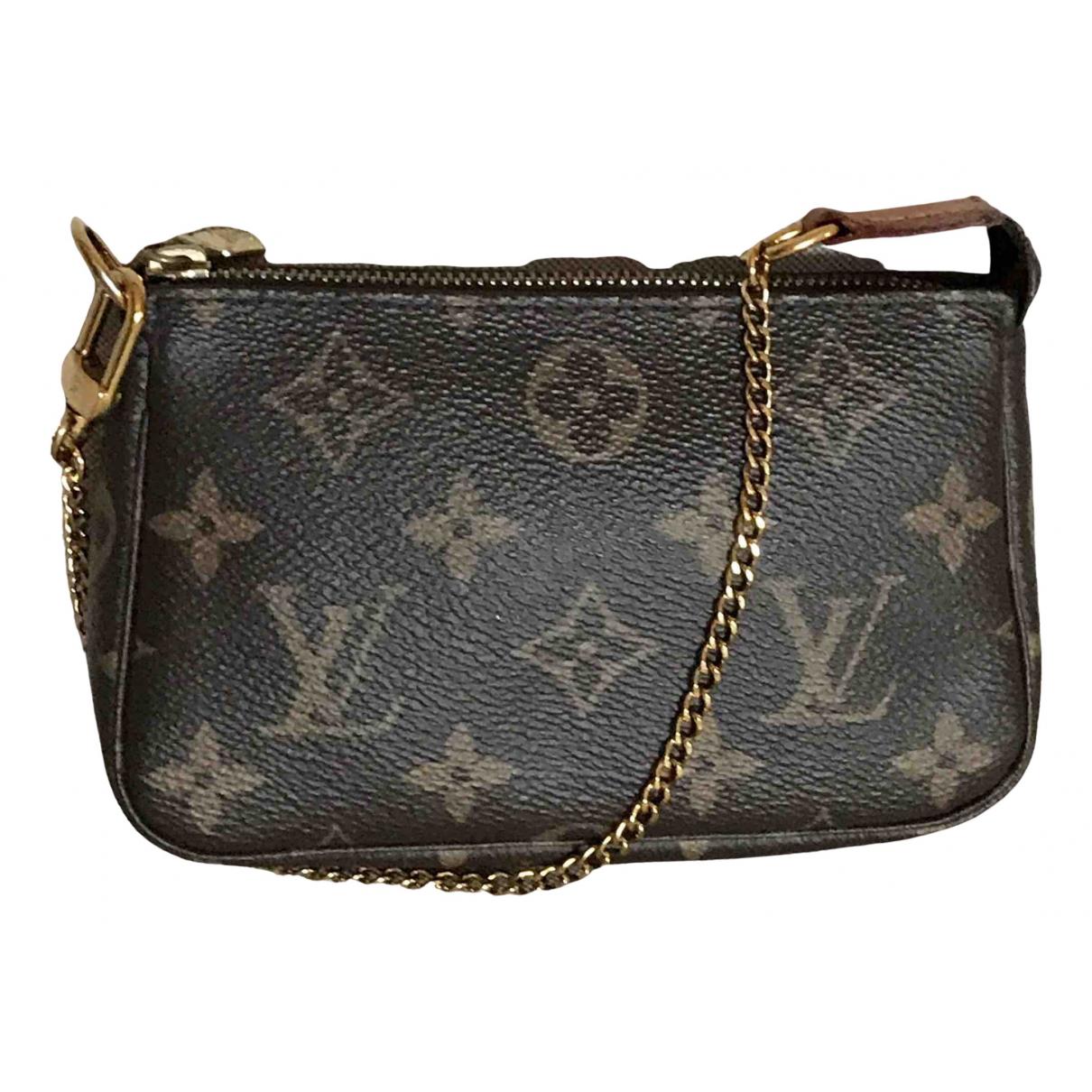 Louis Vuitton Pochette Accessoire Brown Cloth Clutch bag for Women \N