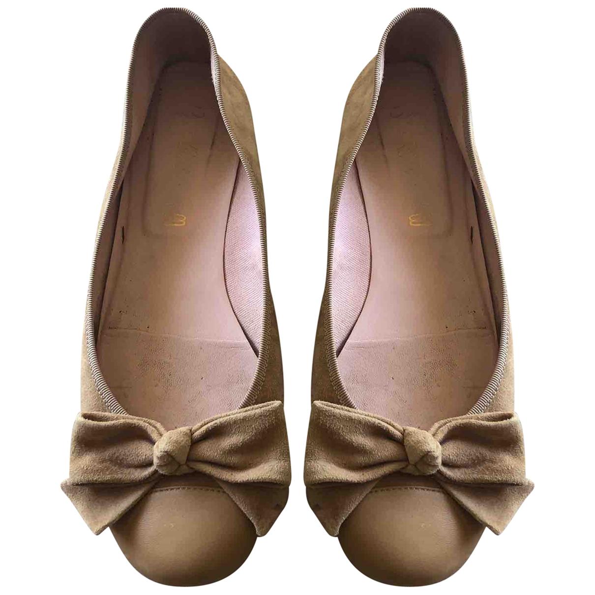 Pretty Ballerinas - Ballerines   pour femme en suede - beige