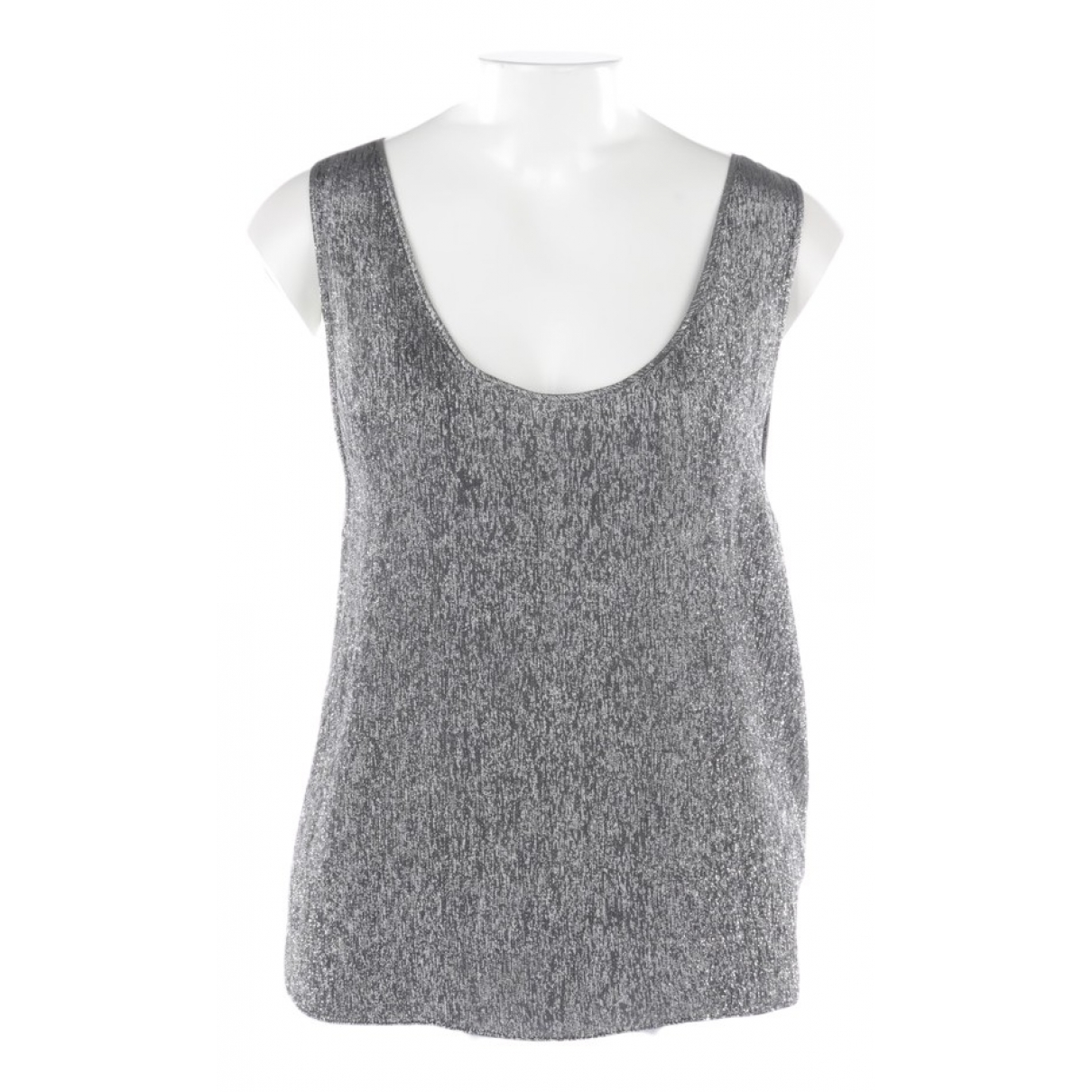 Saint Laurent \N Metallic Silk  top for Women 38 FR