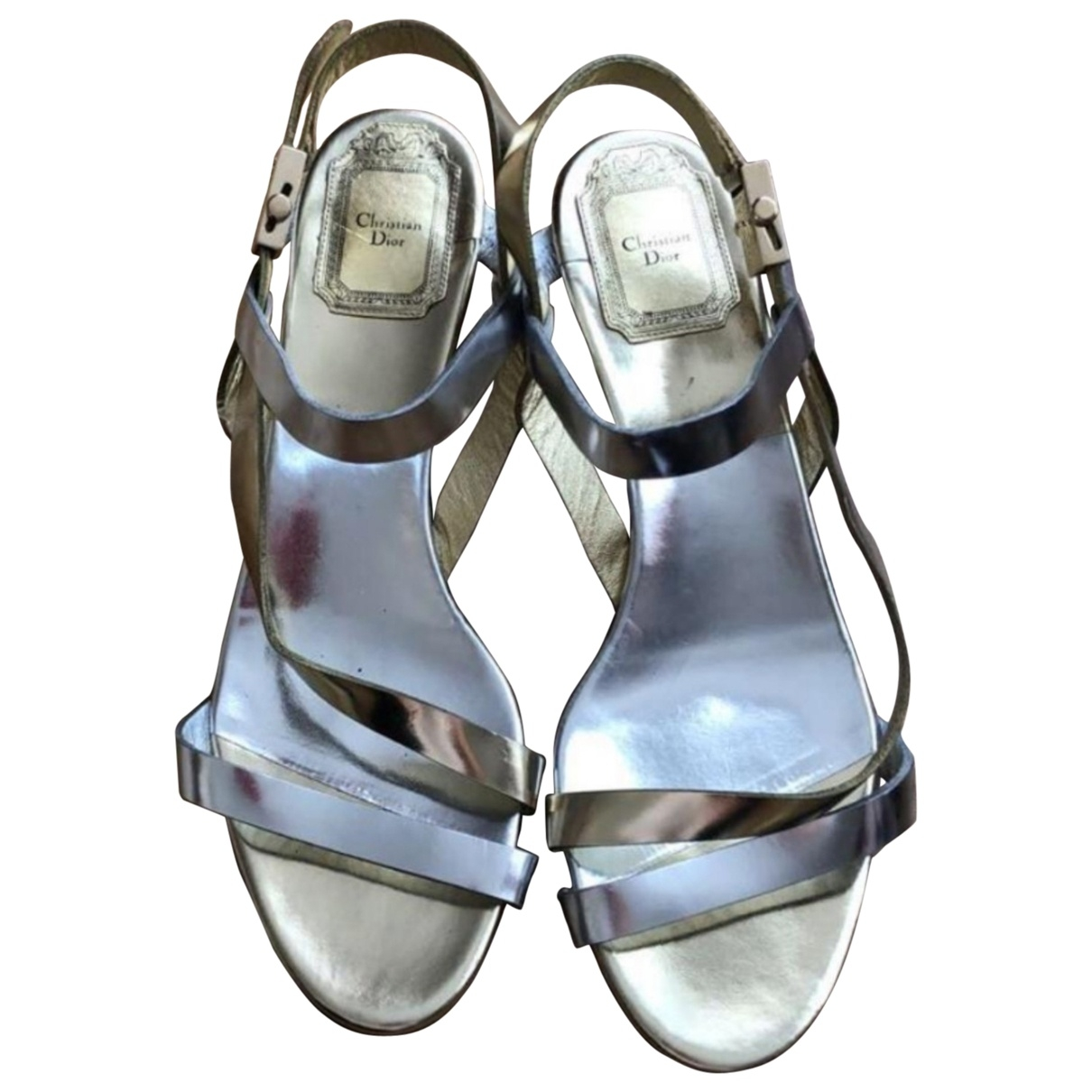 Dior \N Multicolour Patent leather Sandals for Women 38 EU