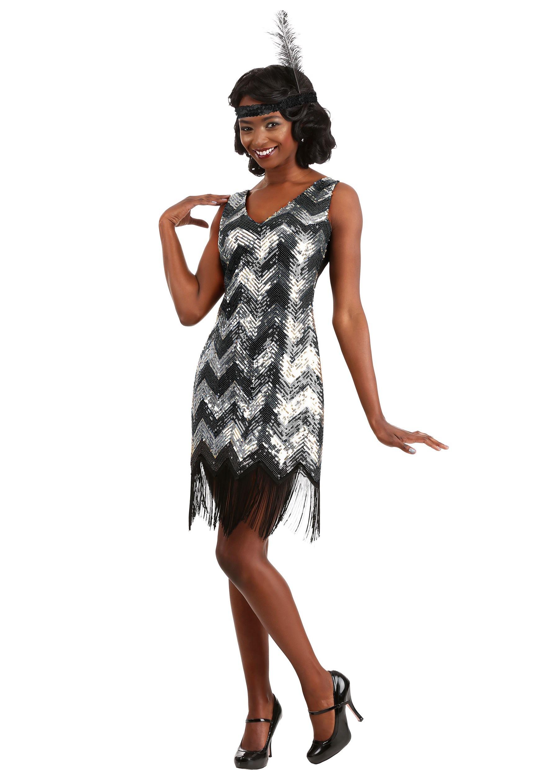 Shimmer Flapper Costume for Women