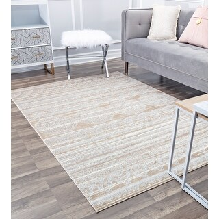 Lennox Vintage Traditional Area Rug by Rugs America (8' x 10' - Misty Cream)