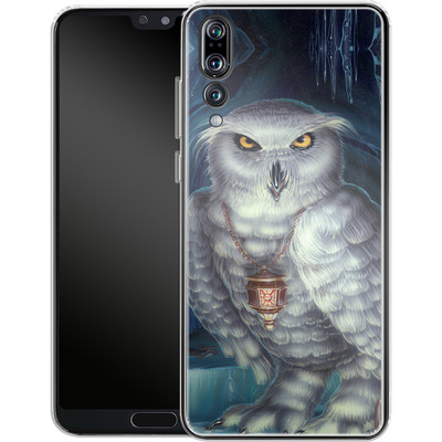 Huawei P20 Pro Silikon Handyhuelle - Ed Beard Jr - Wizard Messenger Owl von TATE and CO