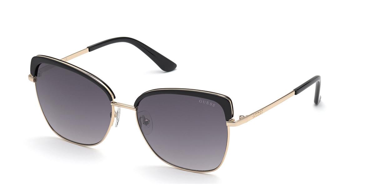 Guess GU 7738 01B Women's Sunglasses Black Size 58