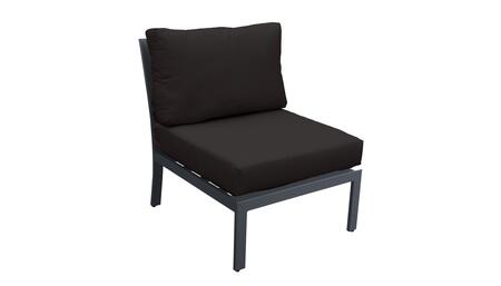 TKC067b-AS-BLACK Armless Chair - Ash and Black