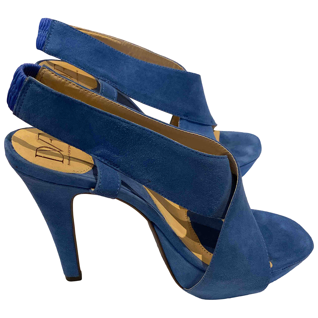 Diane Von Furstenberg \N Sandalen in  Blau Veloursleder