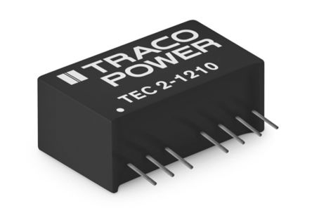 TRACOPOWER TEC 2 2W Isolated DC-DC Converter Through Hole, Voltage in 4.5 → 13.2 V dc, Voltage out 5V dc