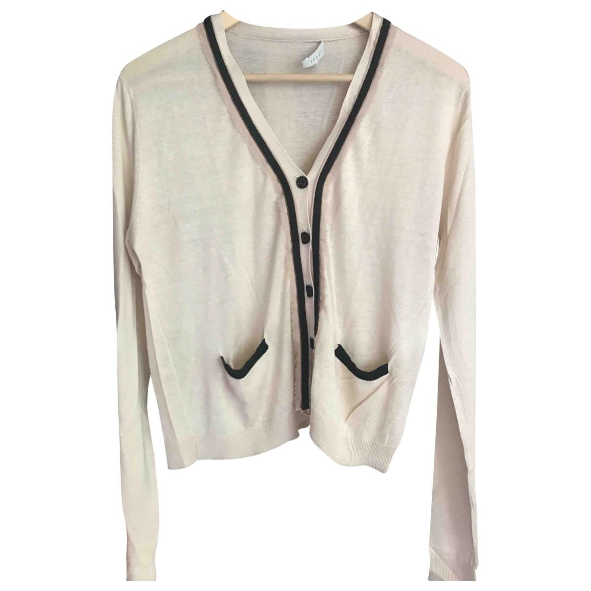 Sandro \N Beige Silk Knitwear for Women 36 FR