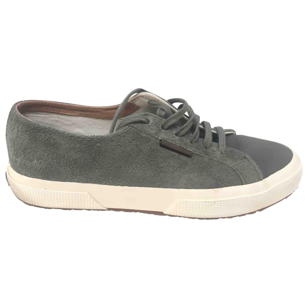 Superga \N Sneakers in  Gruen Veloursleder