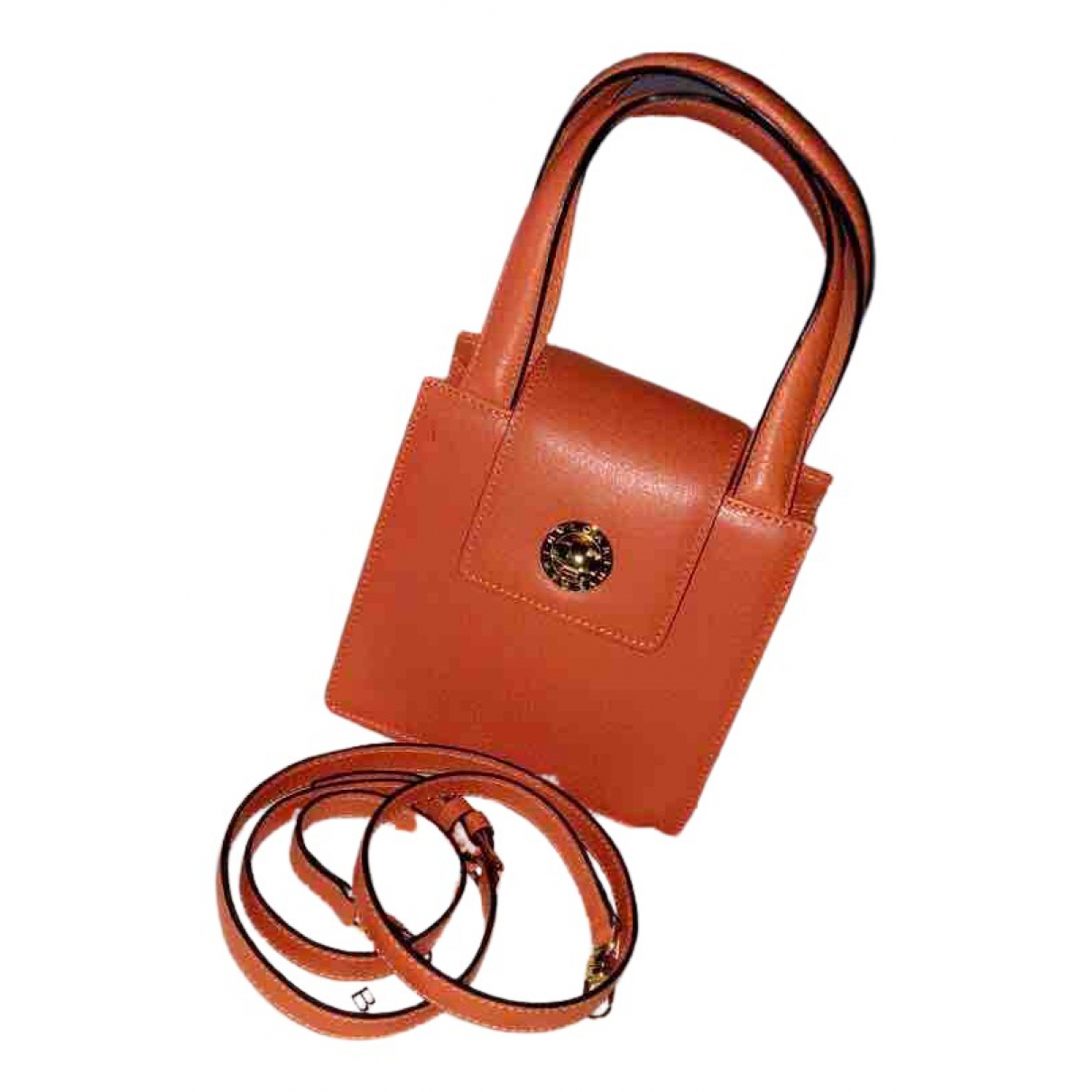 Bvlgari - Sac a main   pour femme en cuir - orange
