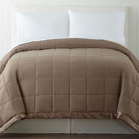Madison Park Newark Microfiber Down-Alternative Blanket, One Size , Brown
