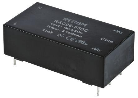 Recom , 6W Embedded Switch Mode Power Supply SMPS, ±5V dc, Encapsulated