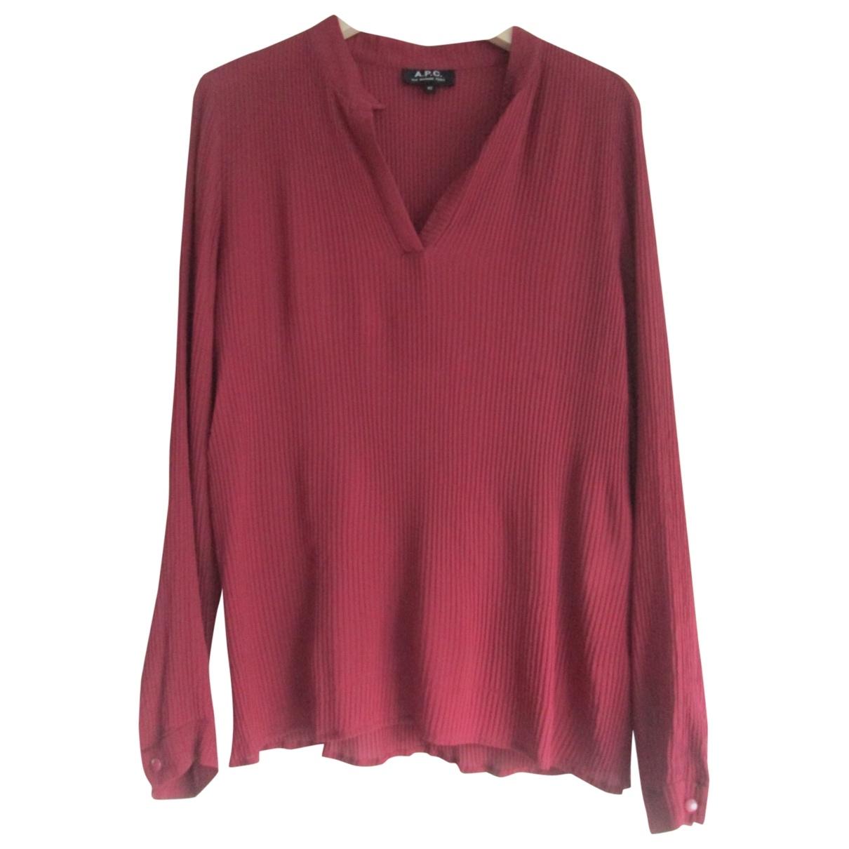 Apc \N Burgundy Silk  top for Women 40 FR