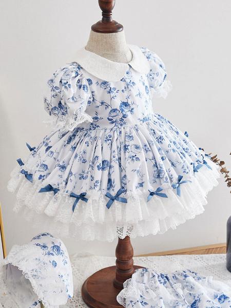 Milanoo Vestido Lolita para niños Vestido de niña de flores con estampado floral