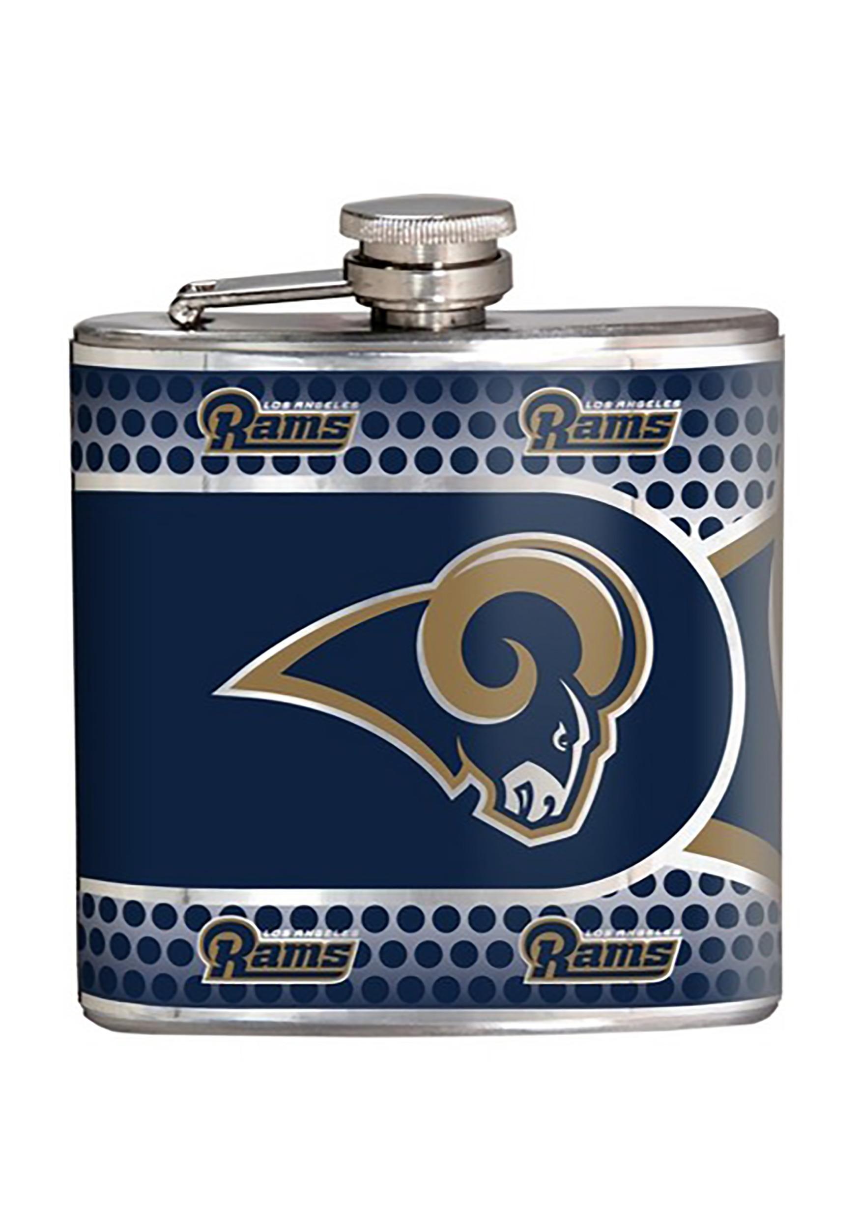 NFL Los Angeles Rams 6 oz. Stainless Steel Flask w/ Metallic Graphics