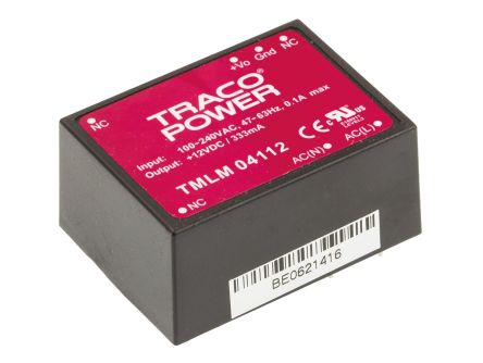 TRACOPOWER , 4W Embedded Switch Mode Power Supply SMPS, 12V dc, Encapsulated