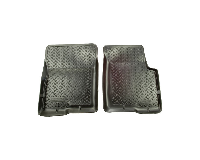 Husky Floor Liners Front 1999 Ford F Series Super Duty Models Classic Style-Black