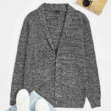 Mantel mit Schal Kragen und Taschen vorn