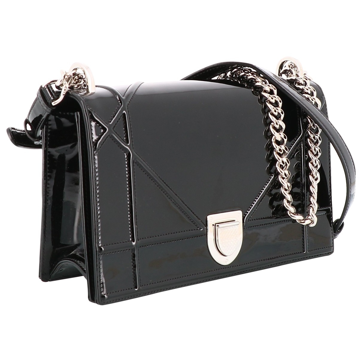 Dior Diorama Black Patent leather handbag for Women \N