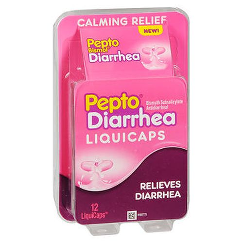 PeptoBismol Antidiarrheal LiquiCaps 12 Caps by PeptoBismol