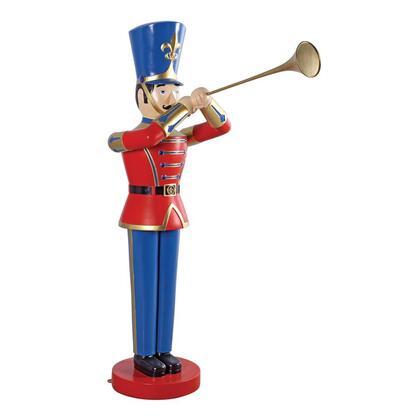 NE140009 Medium Trumpeting Soldier Statue