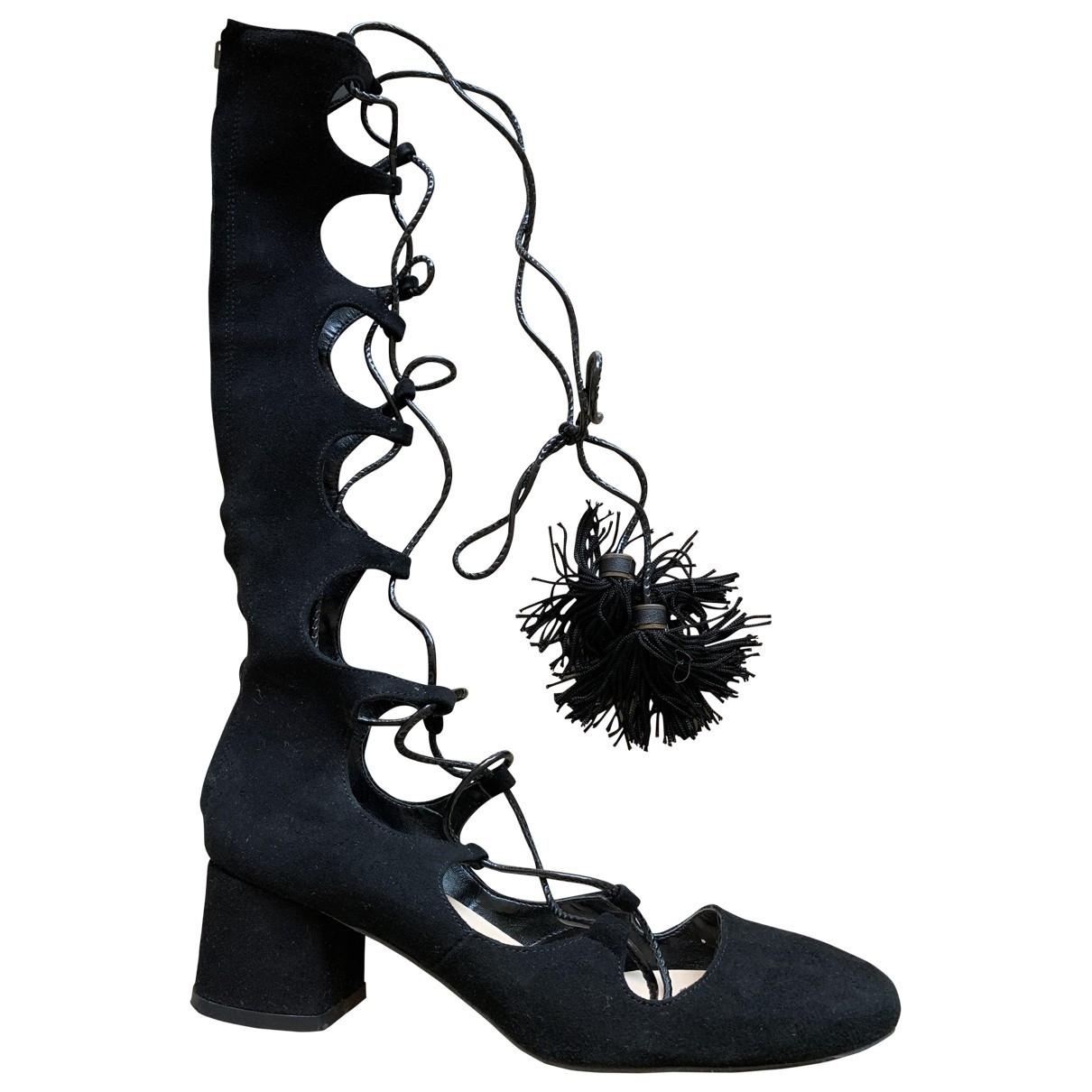 Zara \N Black Suede Lace ups for Women 36 EU