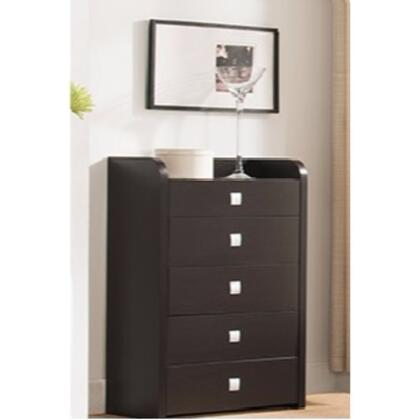 BM141796 Spacious Dark Brown Finish Chest With Five