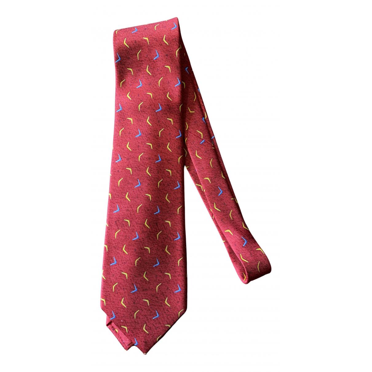 Bvlgari - Cravates   pour homme en soie - rouge