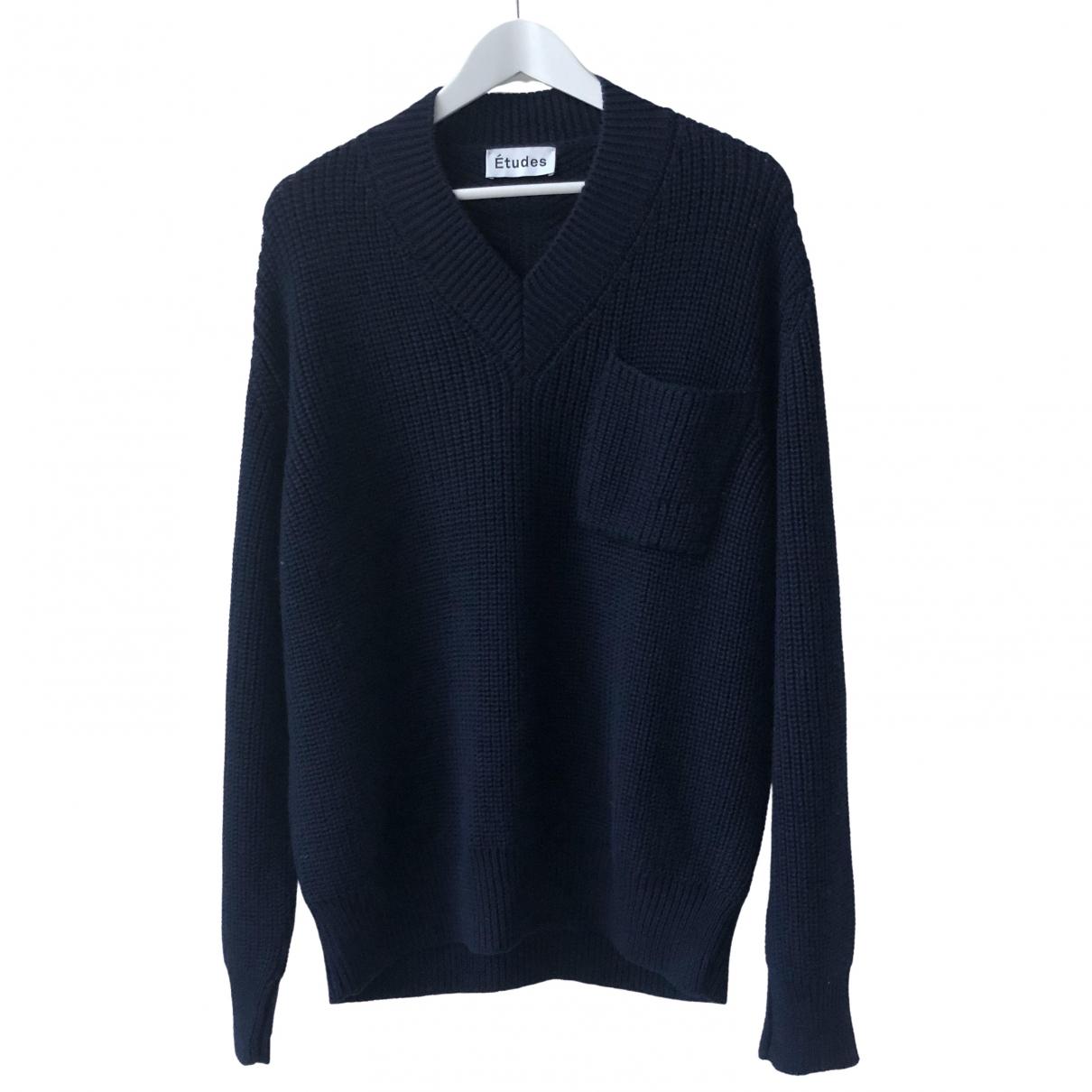 Etudes Studio \N Pullover.Westen.Sweatshirts  in  Blau Wolle