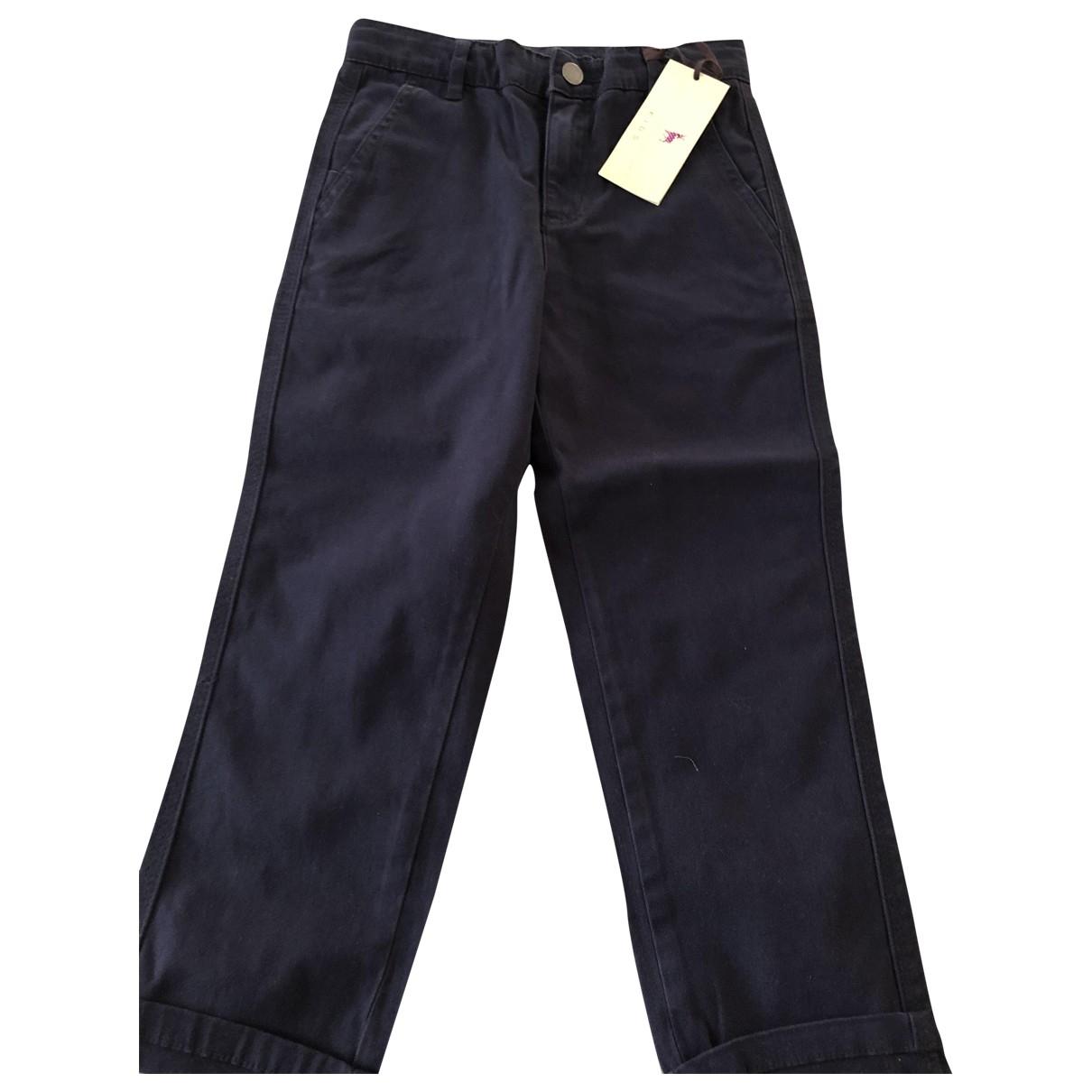 Stella Mccartney Kids - Pantalon   pour enfant en coton - bleu