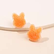 Crystal Rabbit Design Stud Earrings