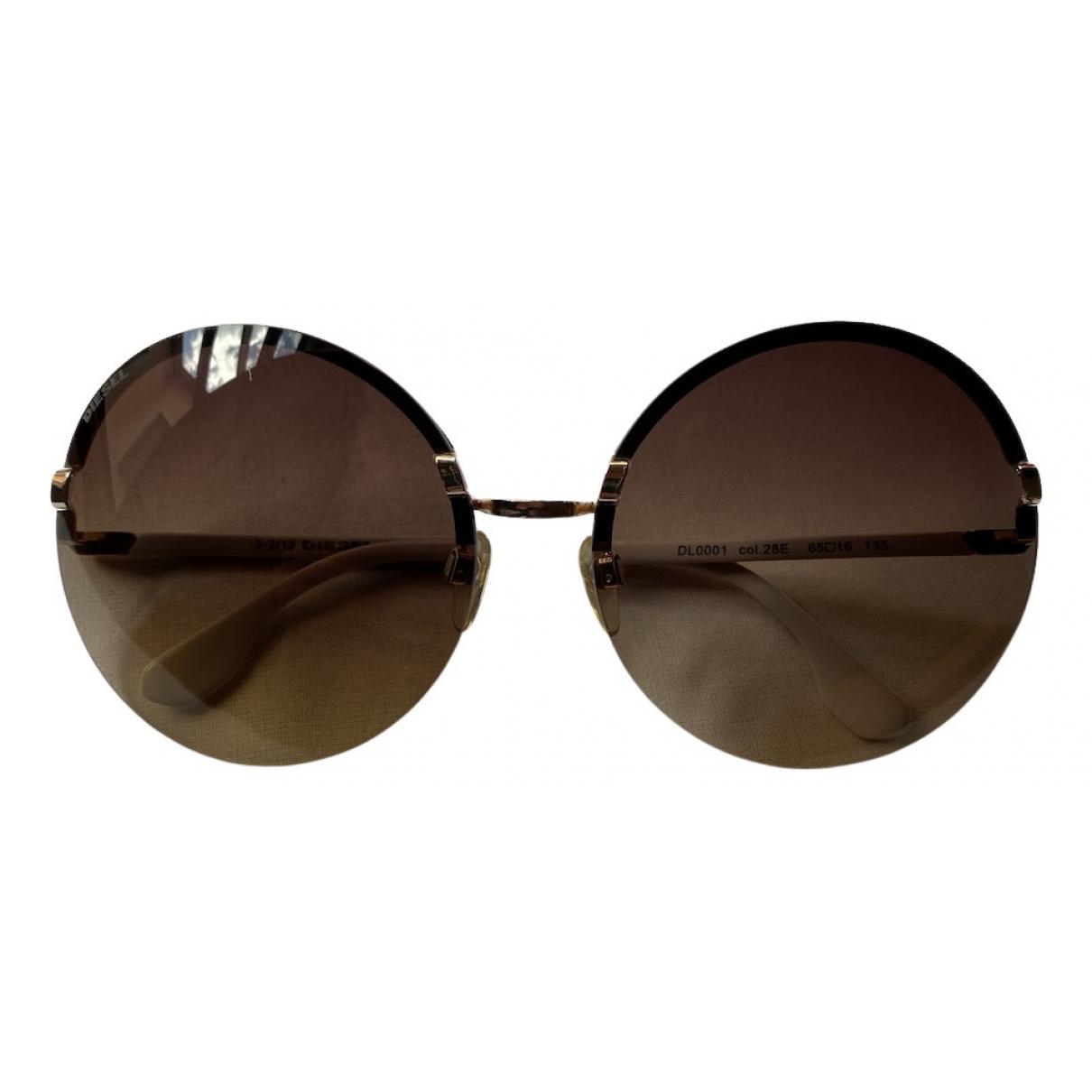 Diesel \N Sonnenbrillen in  Braun Metall