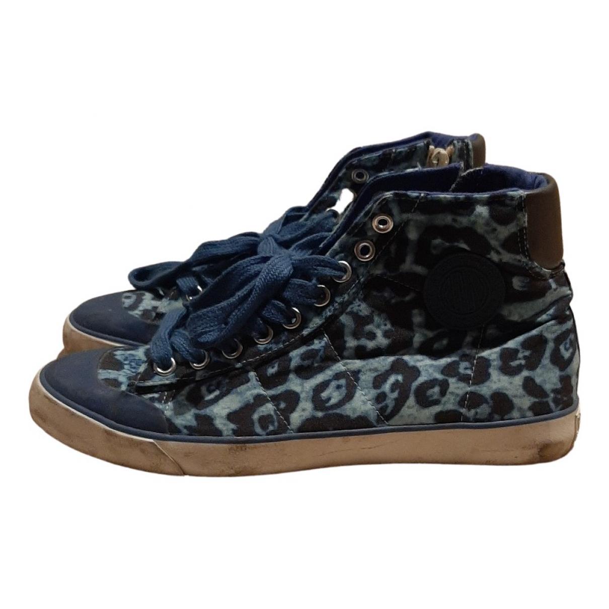 Replay \N Sneakers in  Blau Leinen