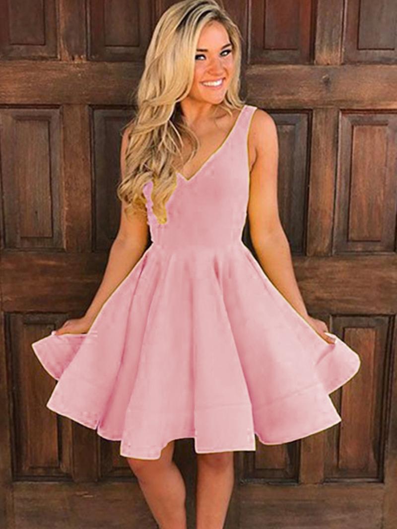 Ericdress A Line V Neck Knee Length Homecoming Dress