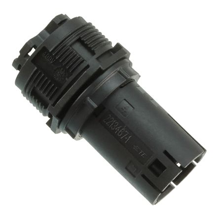 TE Connectivity Nector M Series, Female 3 Pole 3 Way Socket Housing, Cable Mount, Black
