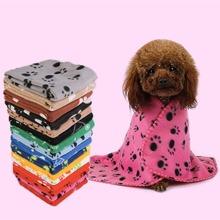 1 Stueck Zufaellige Farbe Hundedecke mit Fussabdruck Muster