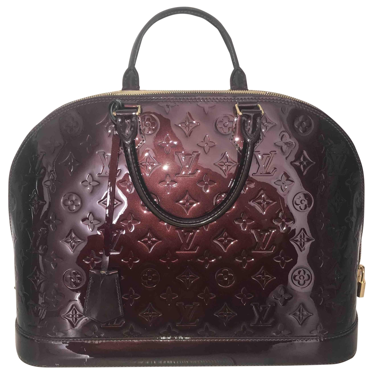 Louis Vuitton Alma Handtasche in  Lila Lackleder