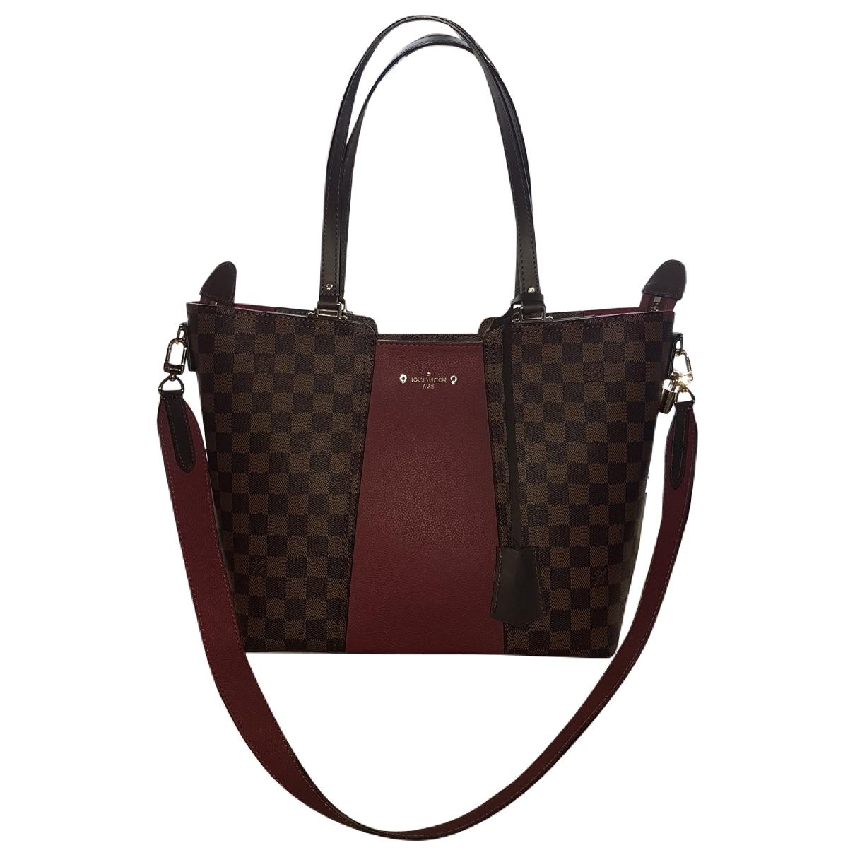 Louis Vuitton - Sac a main Jersey pour femme en toile - marron