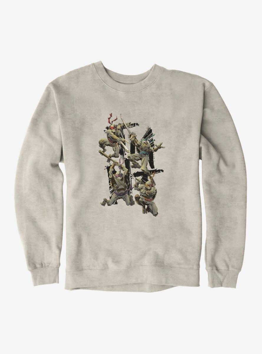 Teenage Mutant Ninja Turtles Acronym Fight Poses Sweatshirt