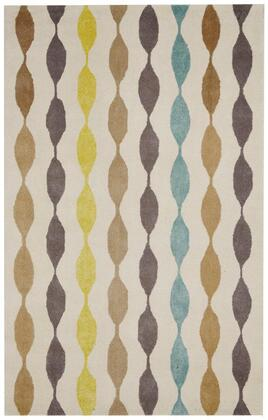 GSAGV862337330810 Gillespie Avenue GV8623-8' x 10' Hand-Tufted Premium blended wool with Viscose accents Rug in Ivory   Rectangle